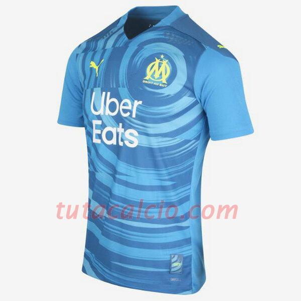 Terza divisa maglie calcio olympique marsiglia 2020-2021 uomo - blu